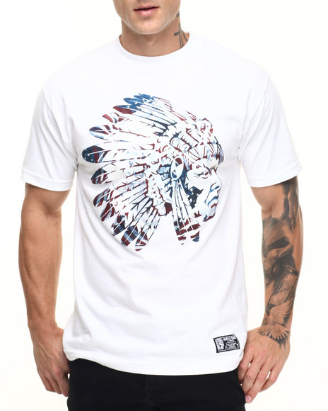 Hustle Gang - Men White Native Tee