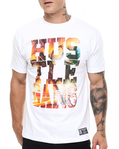 Hustle Gang - Men White Snapshot Tee