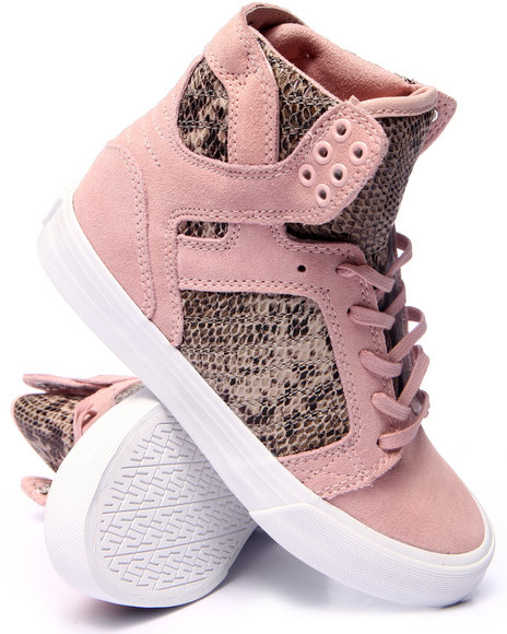 Supra - Women Pink Skytop Faux Snakeskin Hidden Wedge