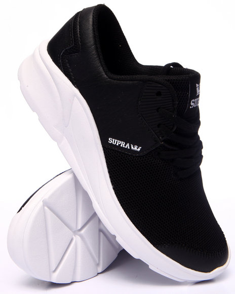 Supra - Women Black Noiz Ultra Lightweight Leather And Mesh Sneaker