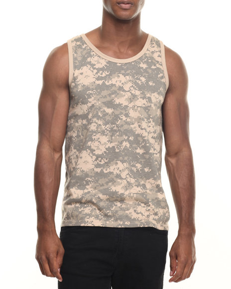 Rothco Men Rothco Camo Tank Top ACU Digital Camo Medium