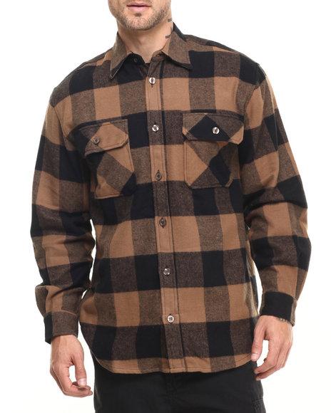 Rothco Men Rothco Extra Heavyweight Buffalo Plaid Flannel Shirt (B&T) Brown 3X-Large