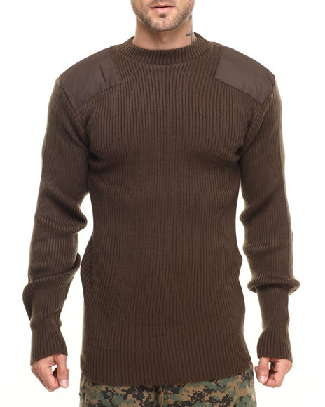Rothco Men Rothco G.I. Style Acrylic Commando Sweater Brown X-Large
