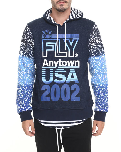 Born Fly - Men Navy Big Boys Hoodie - $72.00