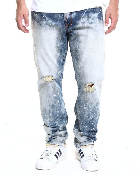Akoo - Men Light Indigo Big Oak Jeans