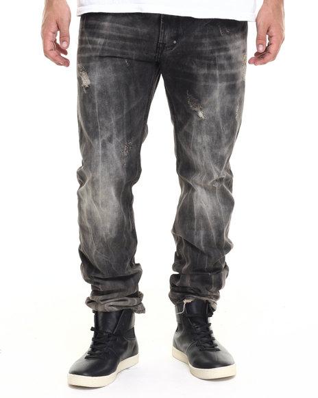 Akoo - Men Black Big Oak Jeans