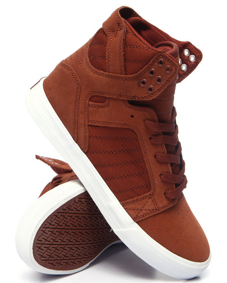 Supra - Men Brown Skytop Sneakers