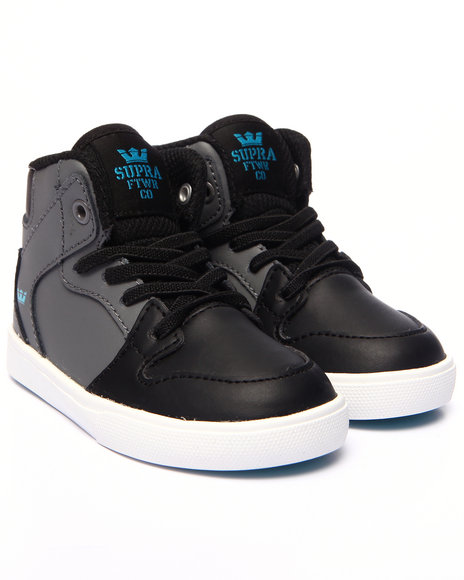 Supra - Boys Grey Vaider Sneakers (5-10)