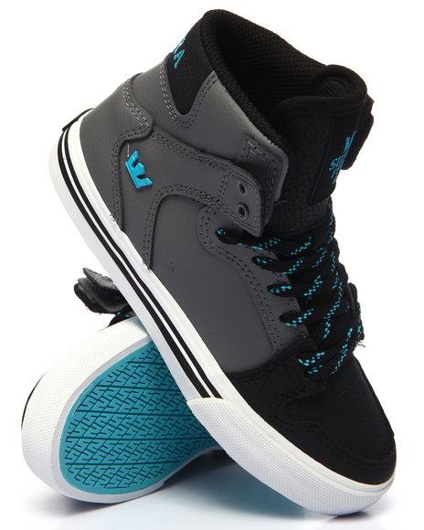 Supra - Boys Grey Vaiders Sneakers (11-6)