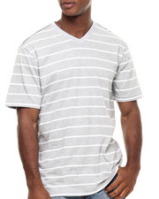 Rocawear - Heather Stripe V-Neck Tee