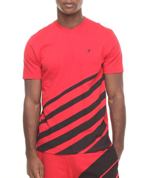 Rocawear - Men Red Fading Stripe Tee