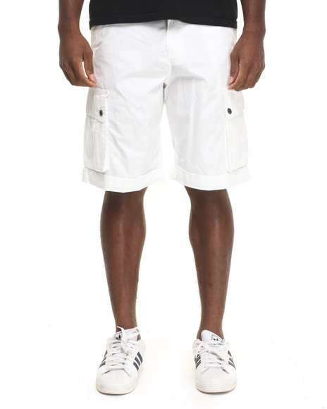 Rocawear - Men White Poplin Cargo Shorts