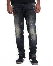 Men - Buffalo Check Vintage Denim Jeans
