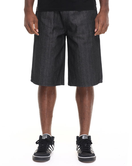 Rocawear - Men Black Lifetime Denim Shorts