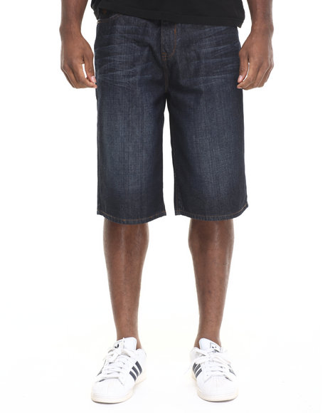Rocawear - Men Dark Indigo Bsr Core Denim Shorts