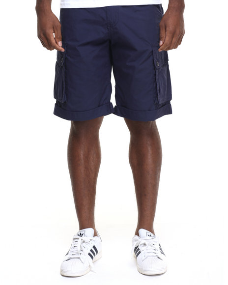 Rocawear - Men Navy Poplin Cargo Shorts