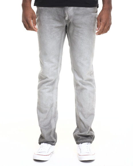 Lee Cooper - Men Grey,Light Grey Owen Slim Shadow Wash Pant