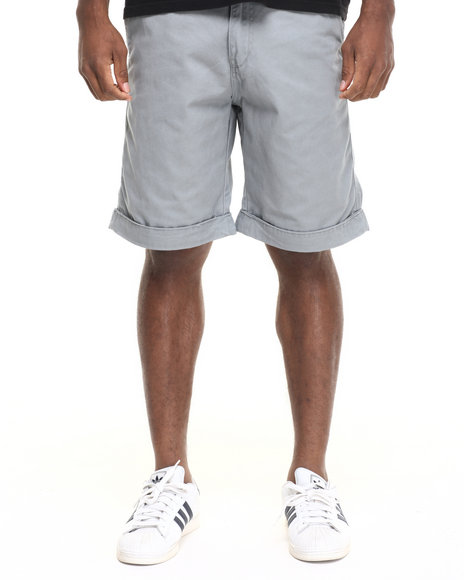 Rocawear Men Volume Twill Shorts Grey 34