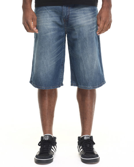 Rocawear - Men Medium Wash Lifetime Denim Shorts