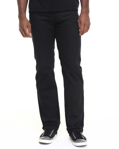 Rocawear - Men Black Flame Stitch Straight Fit Core Jeans
