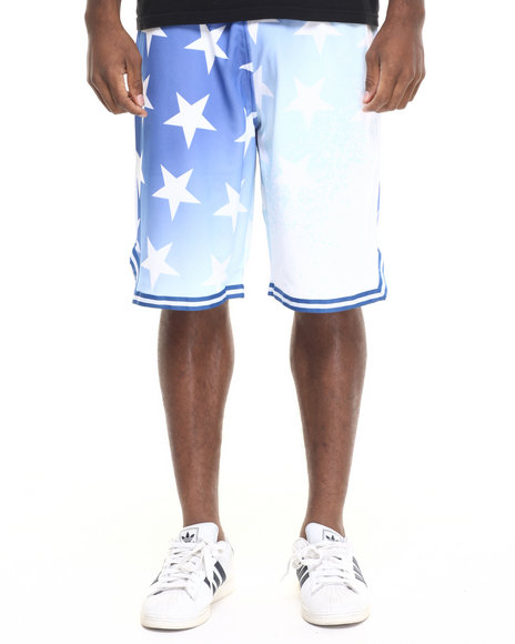 Rocawear - Men Blue Washington Shooter Shorts