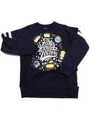 Boys - THE YOUNG RULERS SPECKLE PRINT RAGLAN SWEATSHIRT (4-7)