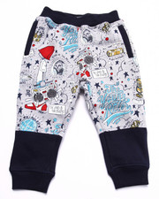 Boys - THE YOUNG RULERS ALL OVER PRINT JOGGERS (2T-4T)