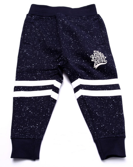 Parish - Boys Navy Speckle Print Joggers (2T-4T) - $24.99