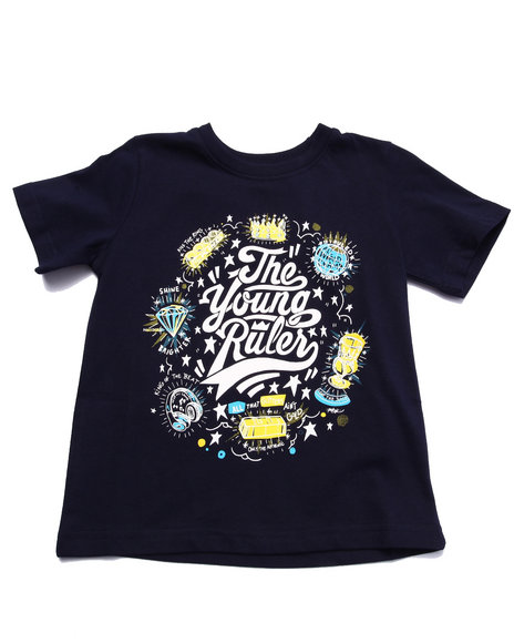 Parish - Boys Navy The Young Rulers Tee (2T-4T) - $7.99