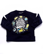 Boys - THE YOUNG RULERS SPECKLE PRINT RAGLAN SWEATSHIRT (2T-4T)