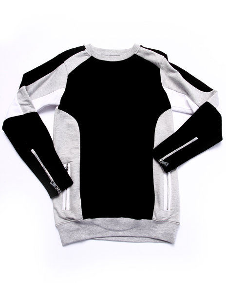 Arcade Styles - Boys Black Gladiator Sweatshirt (8-20)