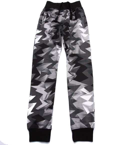 Arcade Styles - Boys Black Crystalized Joggers (8-20)