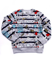 Outerwear - THE YOUNG RULERS ALL OVER PRINT SWEATSHIRT (8-20)