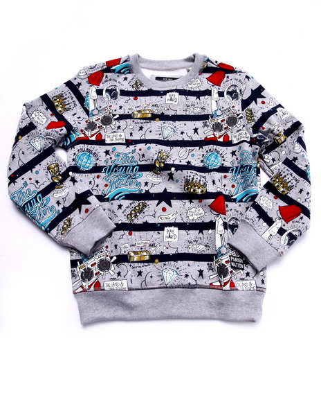 Parish - Boys Multi The Young Rulers All Over Print Sweatshirt (8-20)