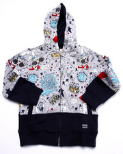 Hoodies - YOUNG RULERS ALL OVER PRINT HOODY (4-7)