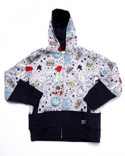 Hoodies - YOUNG RULERS ALL OVER PRINT HOODY (8-20)