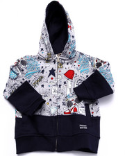 Hoodies - YOUNG RULERS ALL OVER PRINT HOODY (2T-4T)