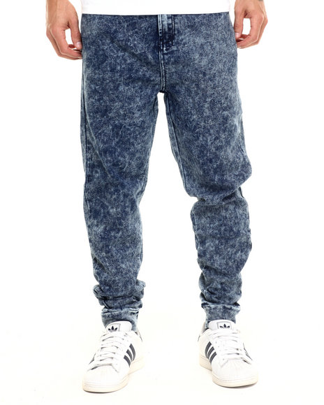 Parish - Men Blue Knit Jogger - $46.99
