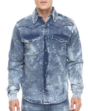 Buyers Picks - Slub - Lined Stretch L/S Denim Button - Down