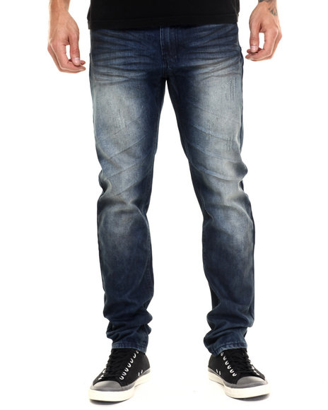 Parish - Men Medium Wash Coated Denim
