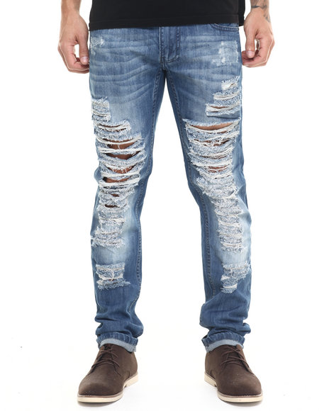 Buyers Picks - Men Medium Wash Heavy Rib Denim Jeans