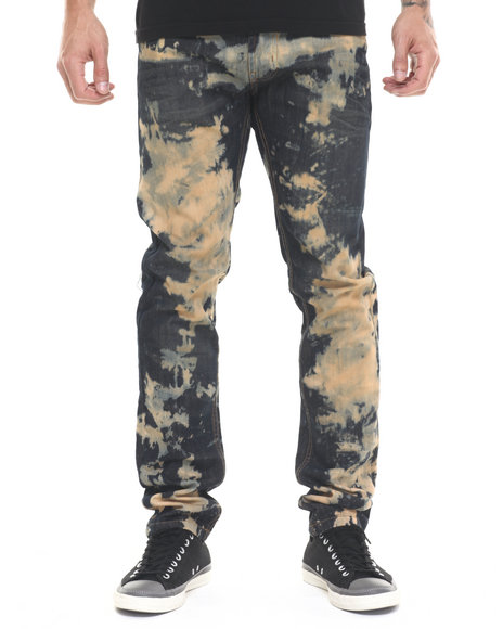 Buyers Picks - Men Dark Wash Apocalypse Acid - Wash Denim Jeans