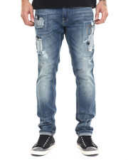 Buyers Picks - Zig - Zag Stitch Destructed Denim Jeans