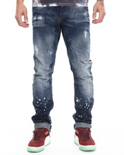 Men - Amalthea Splatter Indigo Demon Fit Jean