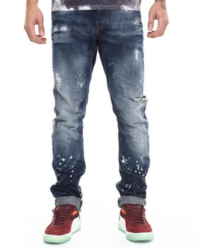 Slim - Amalthea Splatter Indigo Demon Fit Jean