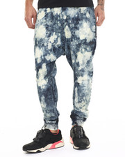 Pants - Halley Drop Crotch enzyme Wash Jogger