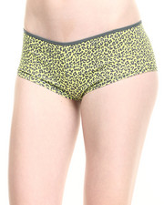 Panties - 3Pk Cheetah/Solid Cotton Hipsters