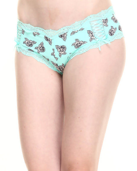 Drj Lingerie Shoppe Green Panties