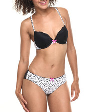 Women - Thrilling Animal Lace Bra/Bikini Set
