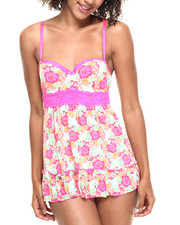 DRJ Lingerie Shoppe - Floral Print Babydoll